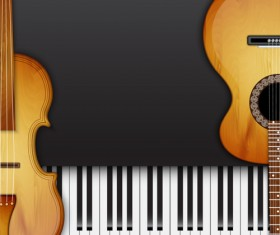 Modern musical Instruments backgrounds vector 04