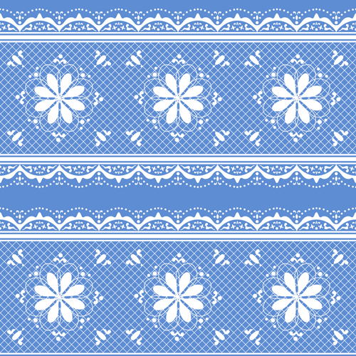 Old lace ornate background vector 01