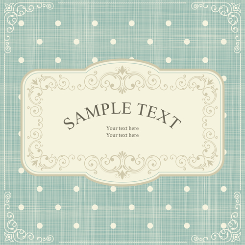 Ornate retro frame background art vector 03