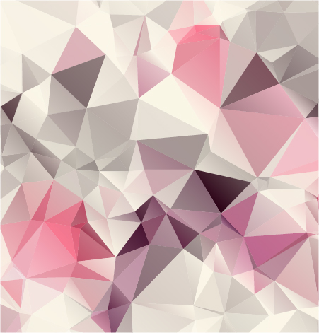 Pink geometric shapes background vector graphics - Vector ...
