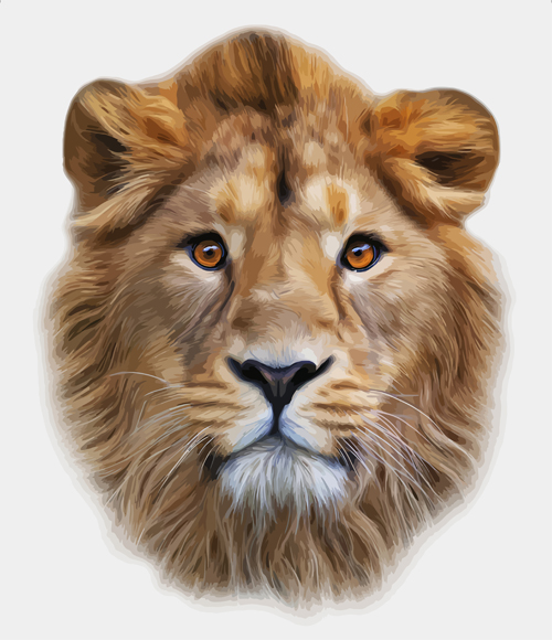 Realistic Lion head design vector - Vector Animal free download