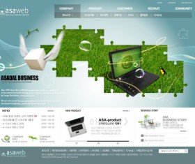 Refreshing company business website template