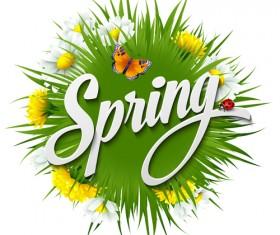 Refreshing spring flower backgrounds vector 02