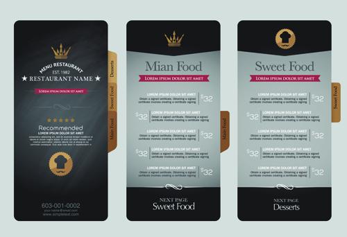 restaurant menu price list creative vector 02 free download