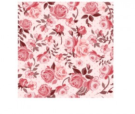 Retro styles roses seamless pattern vector 02