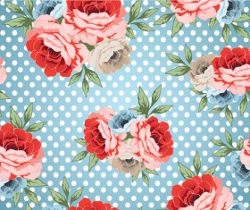 Retro styles roses seamless pattern vector 05