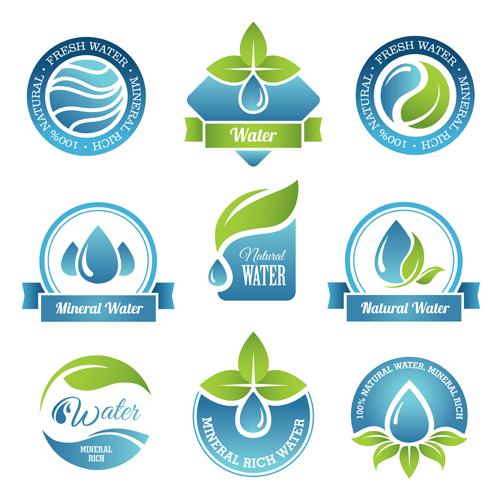 Round water logos vectors graphics - Vector Logo free download