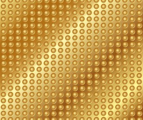 Shiny golden metallic vector background material 02