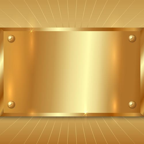 shiny golden metallic vector background material 04