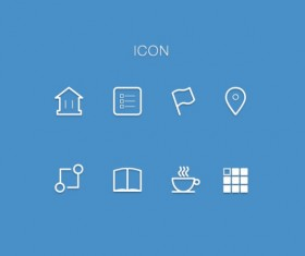Simple outline icon material