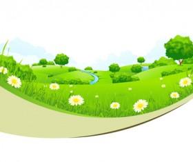Spring nature landscapes vectors material 03