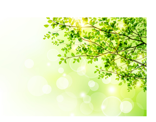 Green tree background