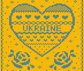 Ukraine style fabric background vector