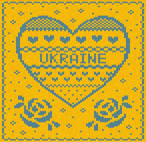 Ukraine style fabric background vector