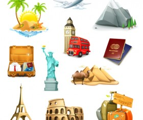 Vector Travel elements set 02