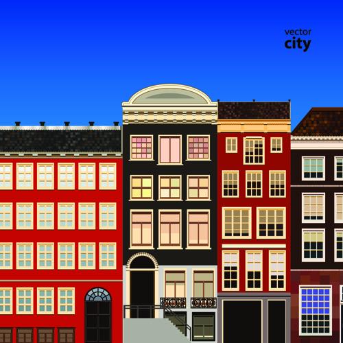 Vector city building creative illustration 07