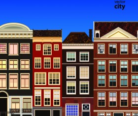 Vector city building creative illustration 09
