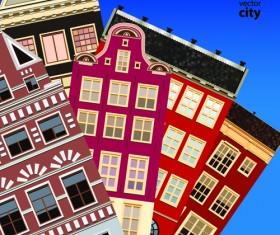 Vector city building creative illustration 12