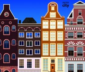 Vector city building creative illustration 14