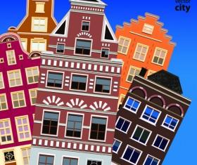 Vector city building creative illustration 16