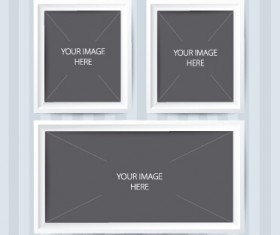 Vector empty photo frames design material 01