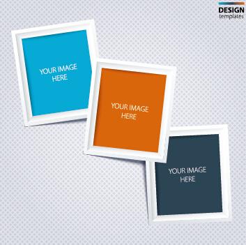 Vector empty photo frames design material 02