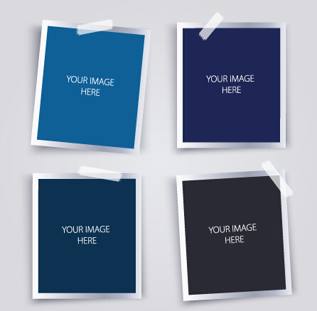 Vector empty photo frames design material 03