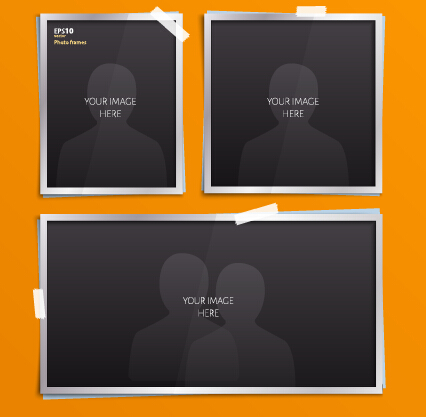 Vector empty photo frames design material 08