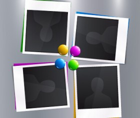 Vector empty photo frames design material 09