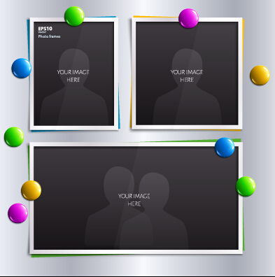 Vector empty photo frames design material 10