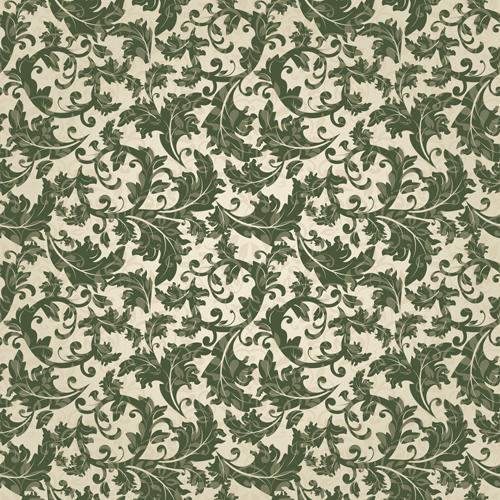 Vector floral retro seamless pattern set 10