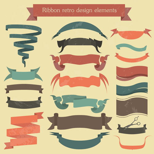 Vector set of ribbon vintage banners 05 - Vector Banner ...