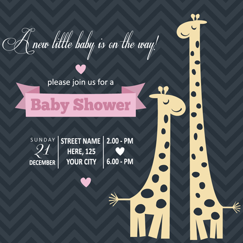 Vintage baby shower invitation cards vector 01 free download vintage baby shower invitation cards vector 01 stopboris Image collections
