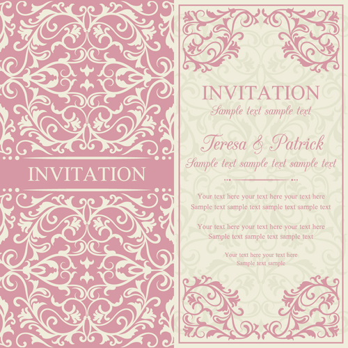 Vintage ornate holiday invitation cards vector 02 vector card vintage ornate holiday invitation cards vector 02 stopboris Image collections