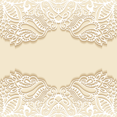 white lace with colored background vector set 06 vector