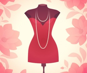 Woman fashion elements vectors background 03