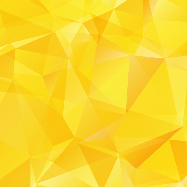 Yellow geometric shapes background vector material