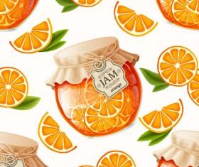 jam glass jar seamless pattern vector 02