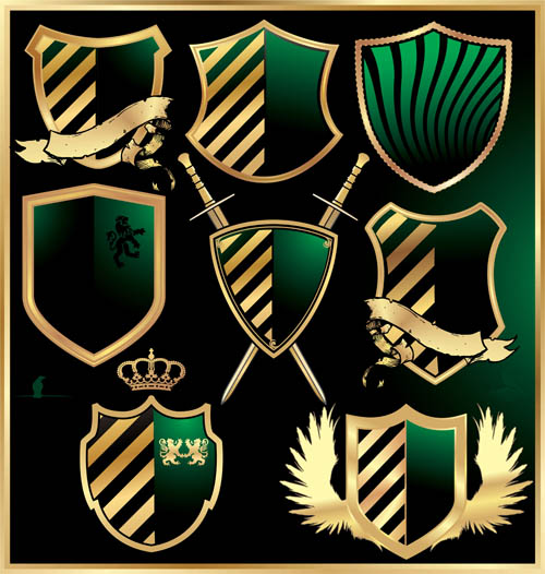 luxurious royal shield vector material 01