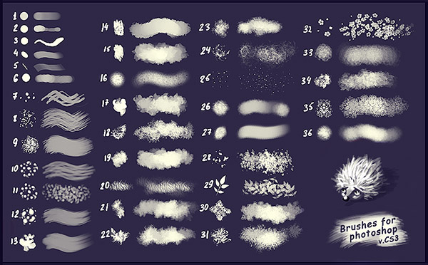 100 kind abstract brushes photoshop material