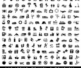 165 Kind travel with tourism mini icons