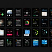 Apple watch gui psd material