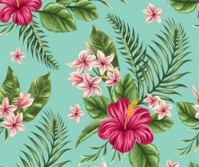 Beautiful flower seamless patterns retro vector set 06