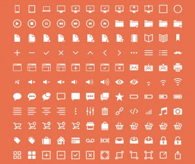 Beautifully web and media icons set