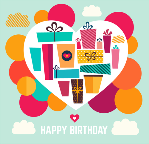 Birthday gift with heart background vector 02 vector background birthday gift with heart background vector 02 negle Choice Image