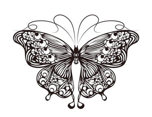 Butterfly Outline Vector Material Free Download