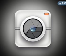 Camera app icons psd material