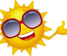 Cartoon sun smiley face vector design 01