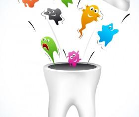 Cartoons dental care vector material 01