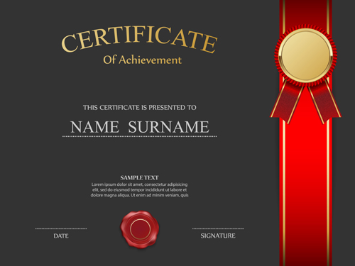 Certificates ornate design vector template 03 vector cover free certificates ornate design vector template 03 yadclub Image collections